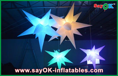 China Heiratshängender aufblasbare Beleuchtungs-Dekorations-aufblasbarer geführter Stern fournisseur