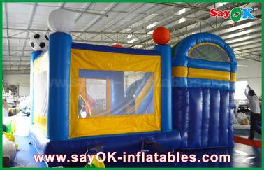 China Kleiner 4x3m aufblasbarer PVC-Schlag-Schloss-Schieber mit Fußball Decoratiionn fournisseur