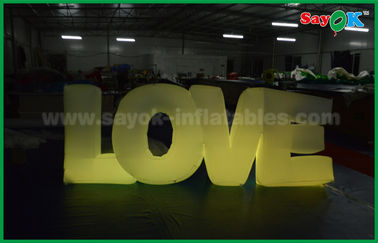 China Romantische aufblasbare Beleuchtungs-Dekoration, aufblasbarer Liebesbrief mit LED-Licht fournisseur