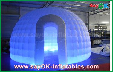 China Stoff-aufblasbares Iglu-Luft-Zelt-rundes Hauben-Zelt 210D Oxford mit LED-Licht fournisseur