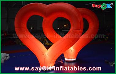 China Heiratendes aufblasbare Dekorations-im Freien rotes aufblasbares Nylonherz mit LED-Licht fournisseur