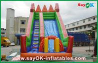 China Sicherheit PVC-Planen-aufblasbares Prahler-Dia-gelbe/grüne Farbe für das Spielen usine