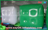 China Weißen grünen aufblasbaren Ballon/Würfel-Helium-Ballon mit Logo annoncierend, drucken Sie usine