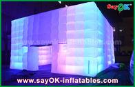 PVC im Freien beschichtete riesiger Würfel-aufblasbares Zelt mit Farbänderungs-Licht-/Luft-Gebläse