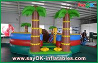 China 0.55mm PVC-Planen-aufblasbares Prahler-Dia/Pool mit Kokosnuss-Baum anti- UV usine