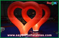 Gute Qualität Aufblasbares Luft-Zelt & Heiratendes aufblasbare Dekorations-im Freien rotes aufblasbares Nylonherz mit LED-Licht disponibles à la vente