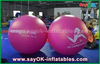 China Riese 2m roter aufblasbarer Ballon-Werbung- im Freienaufblasbarer Helium-Ballon Durchmesser-PVCs usine