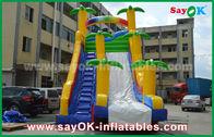 China Lustige/Sicherheit PVC-Planen-aufblasbares Prahler-Dia-gelbe/blaue Farbe für das Spielen usine
