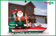 China Verschiedene aufblasbare Weihnachtsmann Zeichentrickfilm-Figuren Customzied für Weihnachten usine