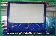 China Blaue aufblasbare Kinoleinwand im Freien besonders angefertigt für die Werbung/Partei/Ereignis usine