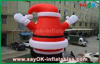 China Großer reizender aufblasbarer Weihnachtsmann im Freien für Weihnachtsdekoration usine