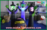China Stoff-aufblasbare furchtsame Geister 210D Oxford und magisches Glas mit LED-Beleuchtung für Halloween usine