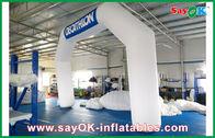 China Blauer/weißer aufblasbarer Bogen Italiens 6mL x 4mH mit Oxford-Stoff und PVC-Beschichtung Firma