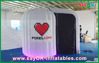 China Weiß rundete aufblasbaren Stoff Photobooth 210D Oxford und LED-Licht Firma