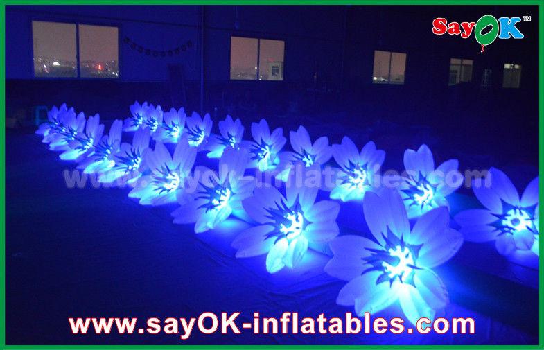 8m Bunte Aufblasbare Beleuchtungs Hochzeits Blumen Ketten Dekoration