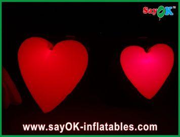 Reizendes großes rotes aufblasbares Herz mit geführten Lichtern für Festival, Durchmesser 1.5M