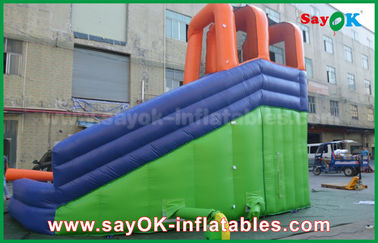 Mehrfunktionales riesiges aufblasbares Prahler-Dia im Freien mit Wasser-Pool für Unterhaltungs-Mitte