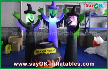Stoff-aufblasbare furchtsame Geister 210D Oxford und magisches Glas mit LED-Beleuchtung für Halloween