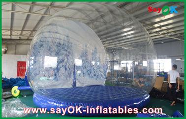 aufblasbare Feiertags-Dekorationen 3m Durchmessers/transparente aufblasbare Chrismas-Schnee-Kugel für die Werbung
