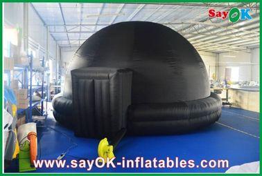 Schwarzes aufblasbares Planetarium, dauerhaftes aufblasbares Projektions-Zelt-Mobile-Kino