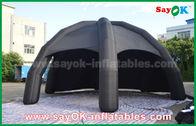 Schwarzes aufblasbares Luft-Zelt PVCs/Werbungs-Hauben-Spinnen-Zelt mit Gebläse