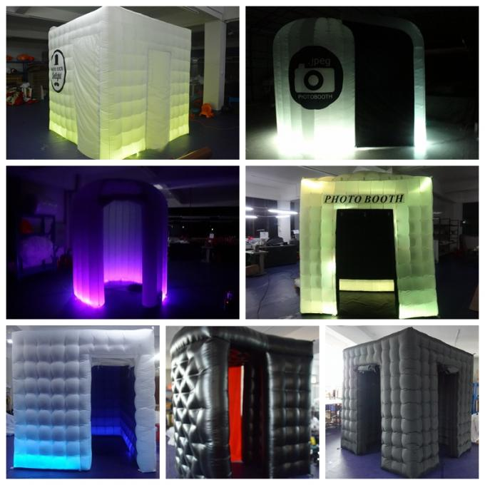 wei e beleuchtung des partei explosions passfotoautomat zelt led mit t r vorhang. Black Bedroom Furniture Sets. Home Design Ideas