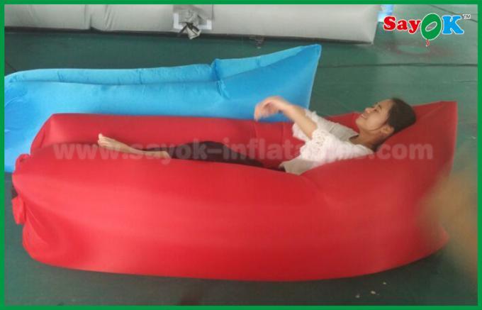 200x90cm Rotes Aufblasbares Schlafsack Luftmatratze Sofa F R Anzeige